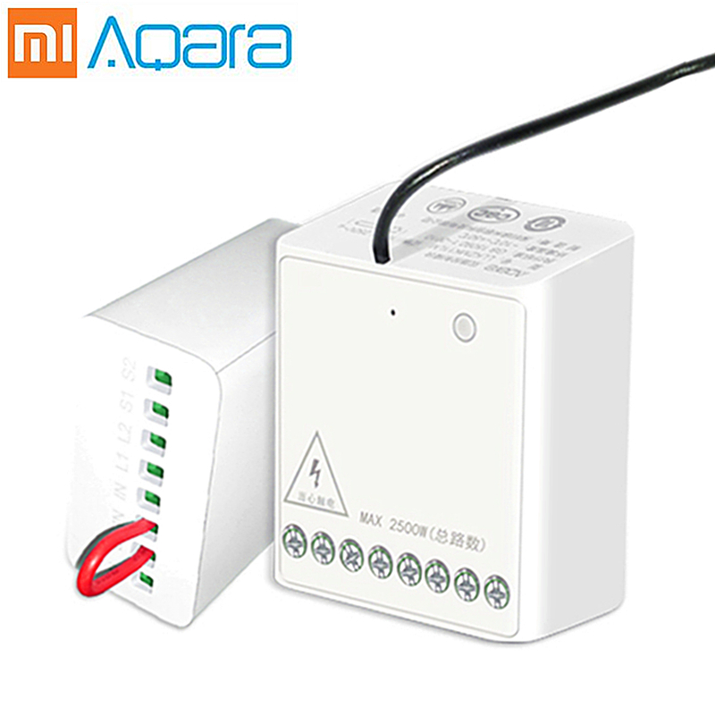 Aqara Smart Two-way Control Double 2 Channel Switch Controller Wireless Relay Module Light For mijia Mi Home original xiaomi new(China)