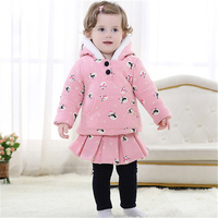 Newborn Thick Cotton Chinese Clothes Christmas Baby Kids Fall Winter Clothing Set Boys Girls Coat Tops