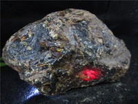 Natural Red Blood Amber Minerals Stones Perot Blood Crystal Rock Specimens Mellite Noneystone Processing of Raw Material