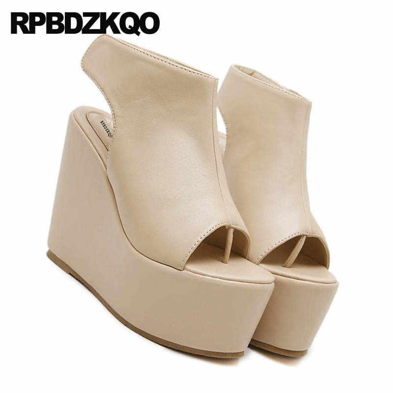 aafe30626e954 ... High Heels Fetish Slingback Thong Nude Platform Extreme Booties Strap  Boots Sandals Pumps Women Shoes 2018 ...