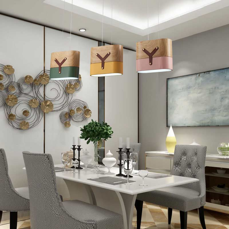 Modern White Led Pendant Lights Fixtures Metal Lampshade Hanging Lamp Lustre Kitchen Dining Room Decor Home Lighting 12W 220V