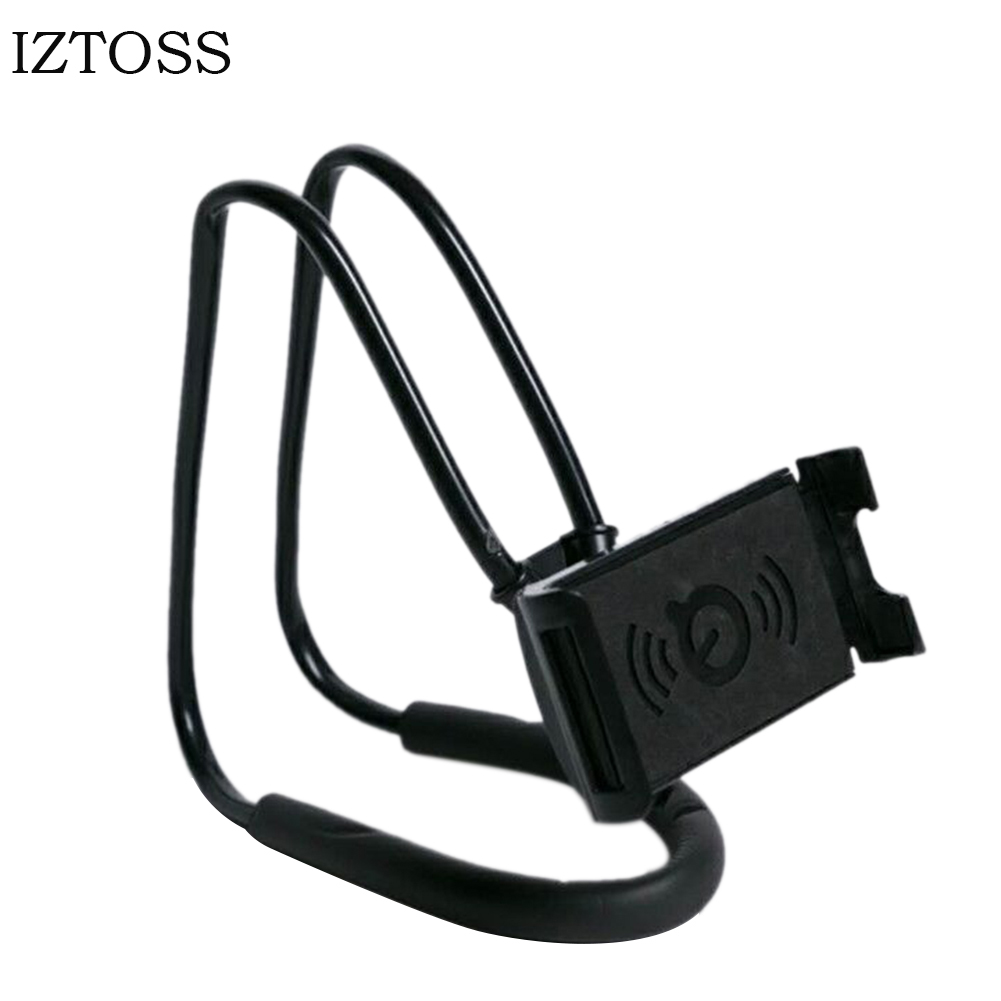 Lazy Bracket 360 Degree Rotation Flexible Hanging Necklace Phone Selfie Holder Snake-like Neck Bed Mount For iPhone Android Hot