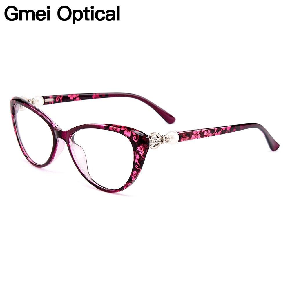 Gmei Optical Ultralight TR90 Cat Eye Women Optical Glasses Frame Eyeglasses Frames For Women Myopia Hyperopia Spectacles M1711