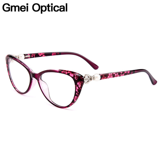 4059764d9b6e5 Gmei Optical Urltra-Light TR90 Cat Eye Women Optical Glasses Frame  Eyeglasses Frames For Women