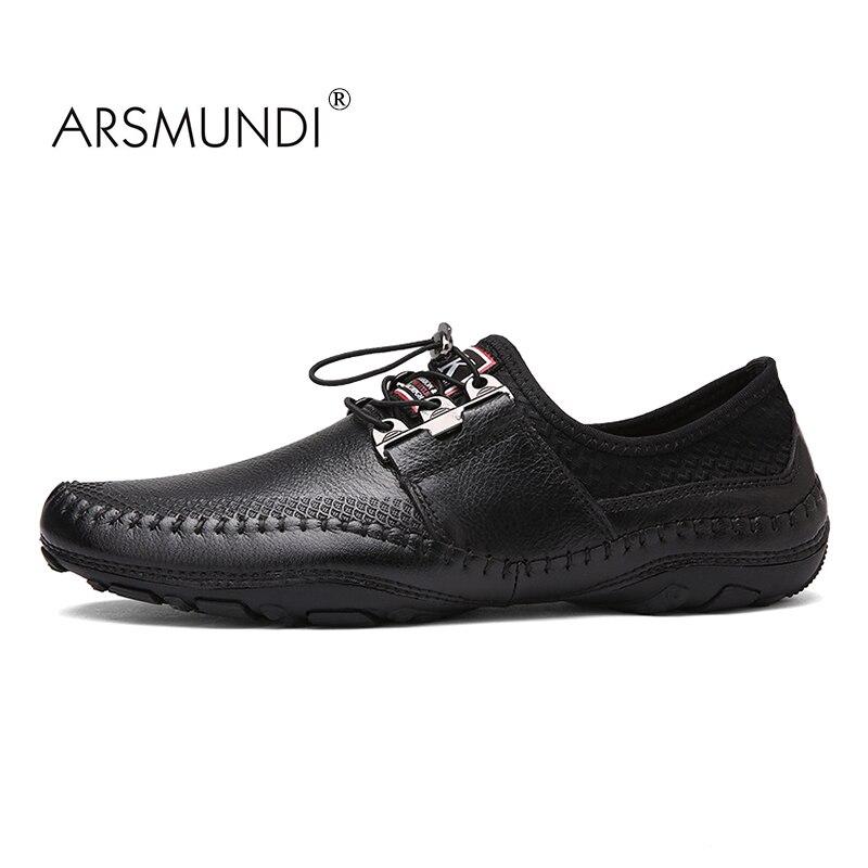 Бренд ARSMUNDI мода лето Стиль мягкий мокасины мужчины мокасины высокое качество Натуральная кожа мужчины квартиры обувь Мокасин вождения обувь