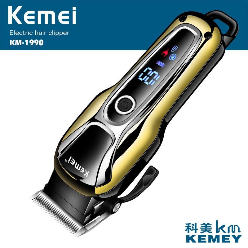 Kemei 1990 Professional машинка для стрижки волос перезаряжаемый триммер для бороды Электрический салон бритва мощная машинка для стрижки волос Брит...