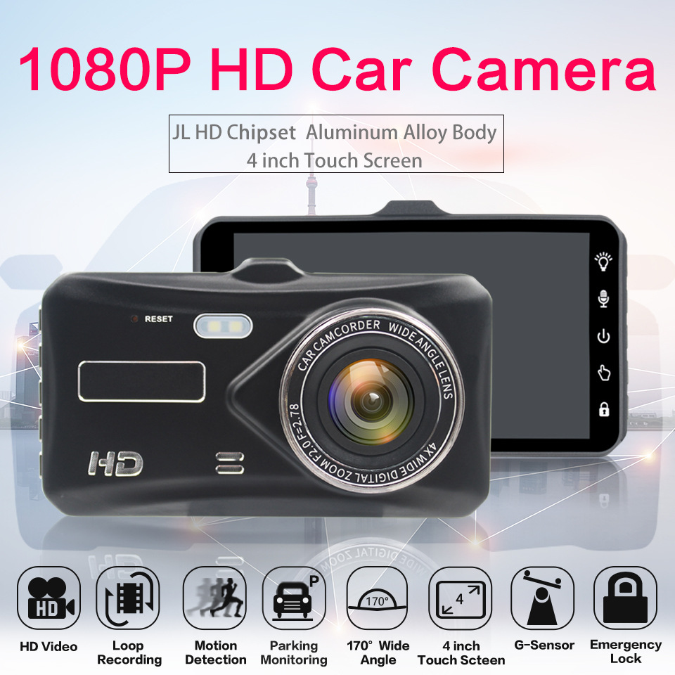 AZGIANT Camcorder Car-Camera G-Sensor Touch-Display Night-Vision 4inch 1080p HD