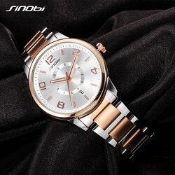 SINOBI Fashion Golden Women's Watch 2019 Women Bracelet Wristwatch For Ladies Quartz Geneva Watches Waterproof Relogio Feminino