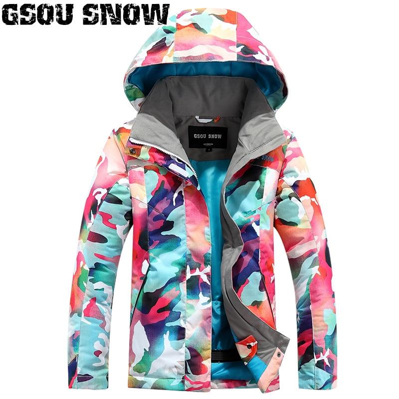 все цены на GSOU SNOW Girls Ski Jacket Snowboard Jacket Windproof Waterproof Kids Clothing Children Outdoor Sport Wear Warm Skiing Coat