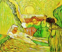 The Raising of Lazarus by Vincent Van Gogh Handpainted