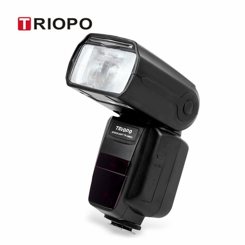 Prix pour TRIOPO TR-586EX C 1/8000 s Sans Fil Flash Mode TTL Hot Shoe lampe de Poche Caméra Speedlite avec Écran LCD Pour Canon caméra