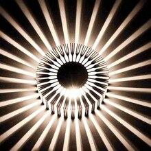 3 Вт Подсолнечное Бра светильник настенный AC85-265V Современный Светодиодное Освещение Для Внутреннего Украшения коридор прохода Ресторан Д. А