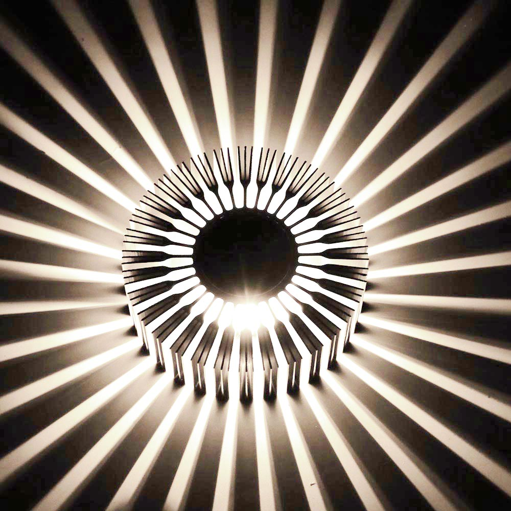 3W Sunflower Wall Lamp  AC85-265V Modern Led Lighting For Indoor Decoration corridor aisle Restaurant free shipping DA