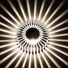 b2b01e12032 W 3 W lámpara de pared de girasol AC85-265V iluminación Led moderna para  decoración interior pasillo restaurante envío gratis DA