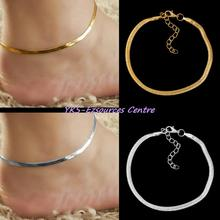 Women Girls Alloy Chain Ankle Bracelet Foot Jewelry Beach Good Gift for your lover family friend and coworkers