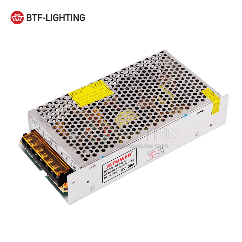 5V 30A 150W Universal Regulated Switching power supply for WS2812B WS2811 WS2801 LED Strip light AC to DC security 5v 30a dc regulated switching power supply for led camera monitor