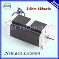 ЧПУ NEMA23 шагового двигателя 57x112 мм 4-свинец 3A 3N. m двойной вал 112 мм 428oz-в для 3D принтер для ЧПУ гравировки фрезерный станок