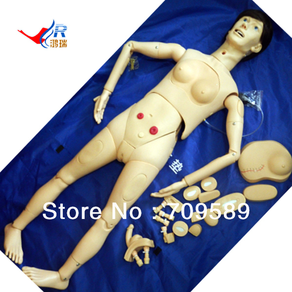 Upgraded Multi-functional Female Nursing Manikin, female nursing mannequin economic basic patient care manikin female nursing manikin nursing mannequin