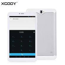 XGODY K0708 8 Pulgadas 3G Tablet PC Phone Call Android 4.4 MTK MT6582 Quad Core 1G + 8G Dual Sim Tablet Teléfono Phablet 8 Pulgadas OTG WiFi