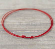 Hot Wholesale Fashion Jewelry 50pcs Handmade Lucky Red String Charm For Woman Good Luck Bracelets&Bangle Free Shipping B533