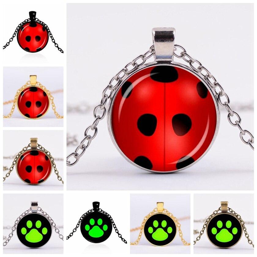 Miraculous Ladybug Necklace Keychain Stud Earrings Adrien Marinette Figure Toys Pendant Lady Bug Cat Noir Juguetes oyuncak toys