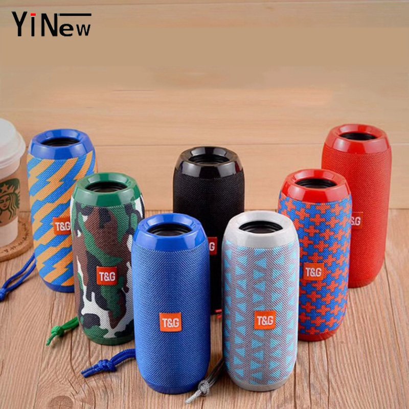 Portable Column Speaker Waterproof Bluetooth Speaker Outdoor Bicycle Subwoofer Bass Wireless Speakers Boom Box Loudspeaker FM