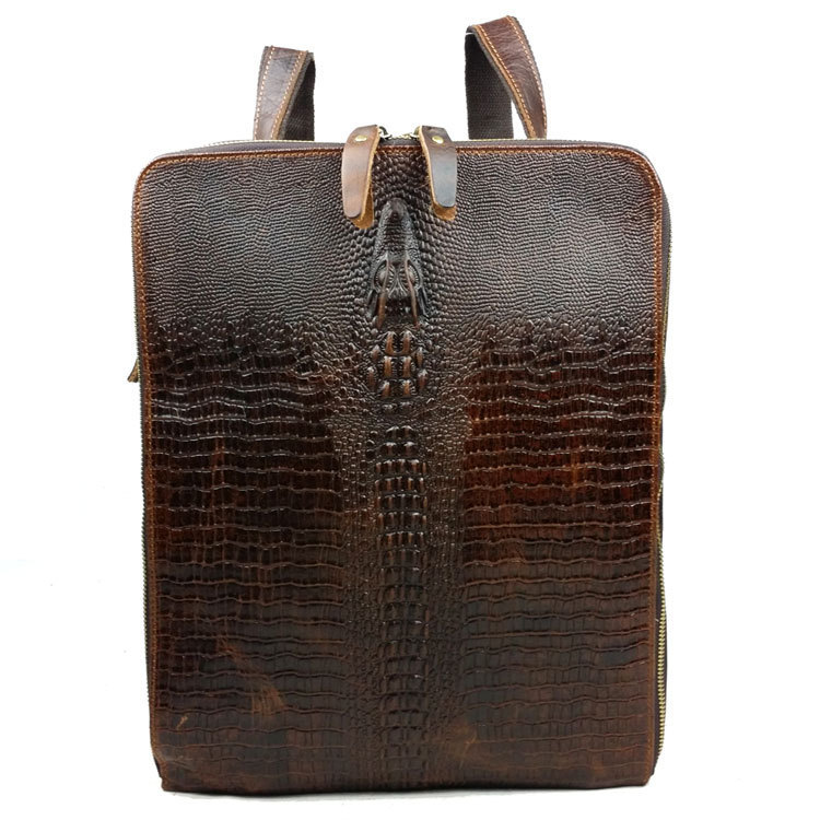 Fashion Vintage Brown Genuine Leather Women Backpack Leather Casual Day Packs Girl School Backpacks Women Shoulder