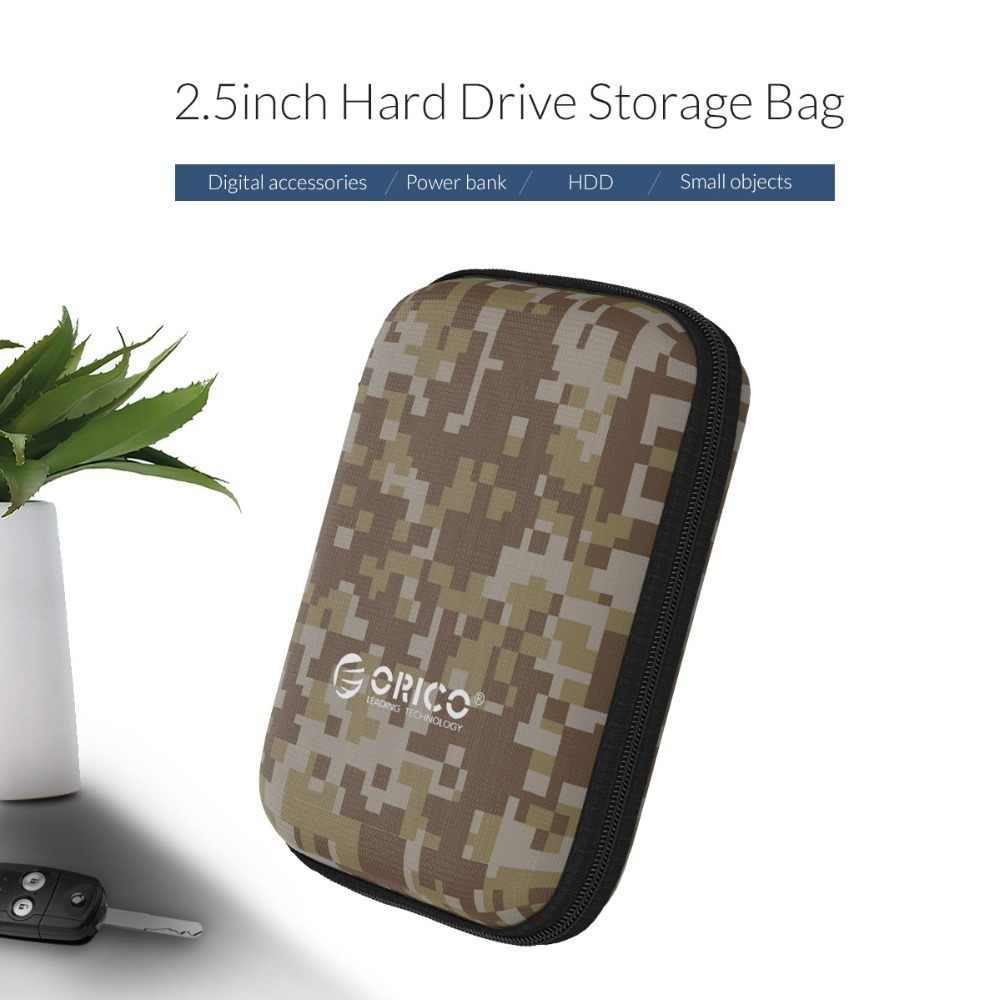 ORICO 2.5 HDD/SSD صندوق حقيبة حقيبة محمولة حقيبة القرص الصلب للخارجية المحمولة HDD Usb كابلات باور بانك شواحن بطاقة القراء