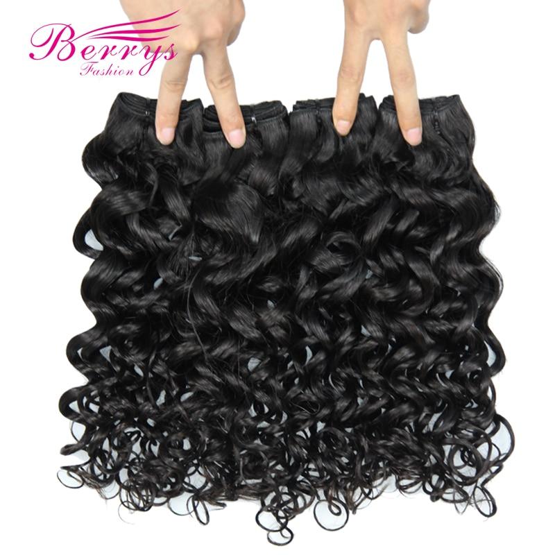 Berrys Fashion Peruvian Virgin Hair Bundles Delas 4PCS Lot Unprocessed Human Hair Weave Natural Colors Can