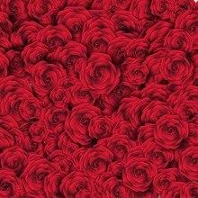 Hot 3D Rosas Vermelhas Real foto cenário Vinil parede do estúdio da fotografia fundo Computador impresso pano de Alta qualidade