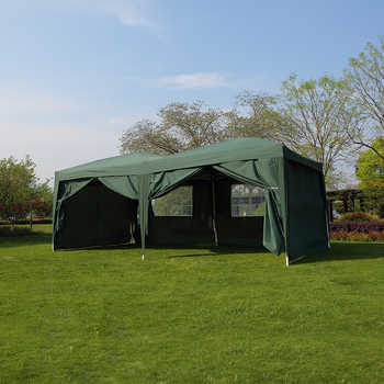 Presale 15% off Large 6x3m WATERPROOF Pop Up Garden Gazebo Arbor Party Tent with Sides Window Bag Country Fair All closed Tent - DISCOUNT ITEM  0% OFF All Category