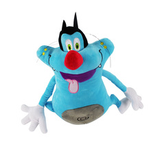 French Cartoon Oggy and the Cockroaches Plush font b Toy b font Fat Cat Oggy Stuffed