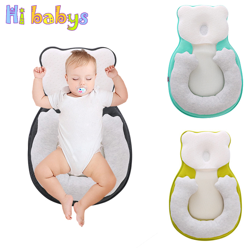 Baby Portable Bed Crib Cradle For Newborn Travel Cot Nest Bassinet Infant Anti-roll Pillow Prevent Flat Head Cushion Positioner