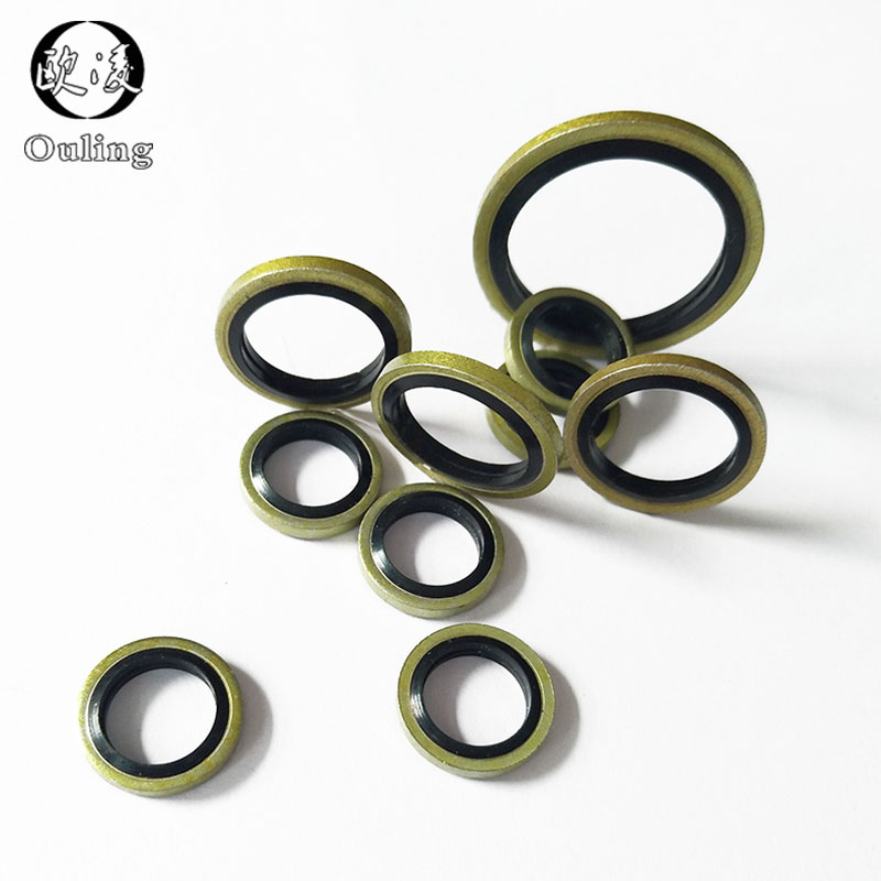 Color : 50pcs, Size : 24mm 18//20//22//24//26mm Combined Sealing Washer Metal Rubber Compound Bonded Washer Fit M18//M20//M22//M24 Oil Drain Plug Gasket Ring