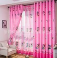 Hot Sale cartoon curtains for living room of children kids pink blue minnie mouse for girls curtains window