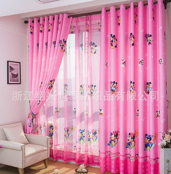 Hot Sale cartoon curtains for living room of children kids pink blue minnie  mouse for girls curtains window. Online Get Cheap Minnie Mouse Curtains  Aliexpress com   Alibaba Group