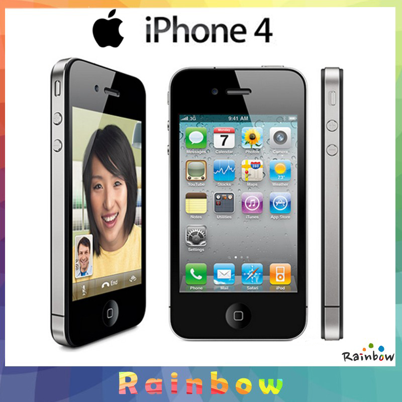 Refurbished flash iphone 4 8GB/16GB+512MB 3.5 inch unlocked   iphone4 5MP 8g mobile phone white 8g 2