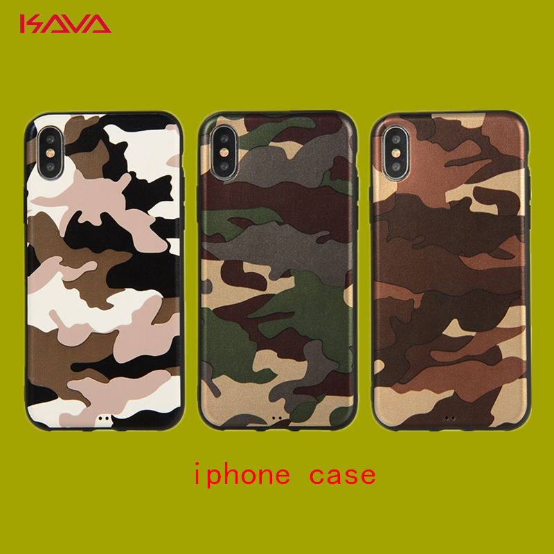 KAVA Camouflage pattern soft shell Phone Cover case for iPhone X 10 XR XS MAX 6 6S plus 7 8 plus TPU material Phone cases Coque