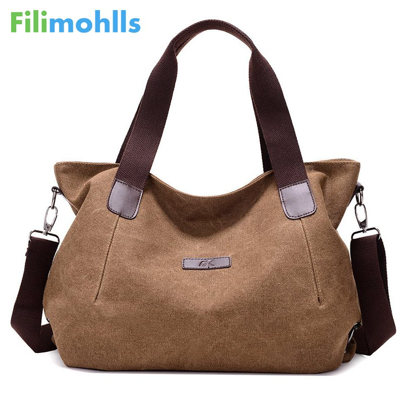 Large Capacity Women's Canvas Handbag Casual Canvas Shoulder Bags Vintage Crossbody Messenger Bags Female Tote Bag Trapeze S1513