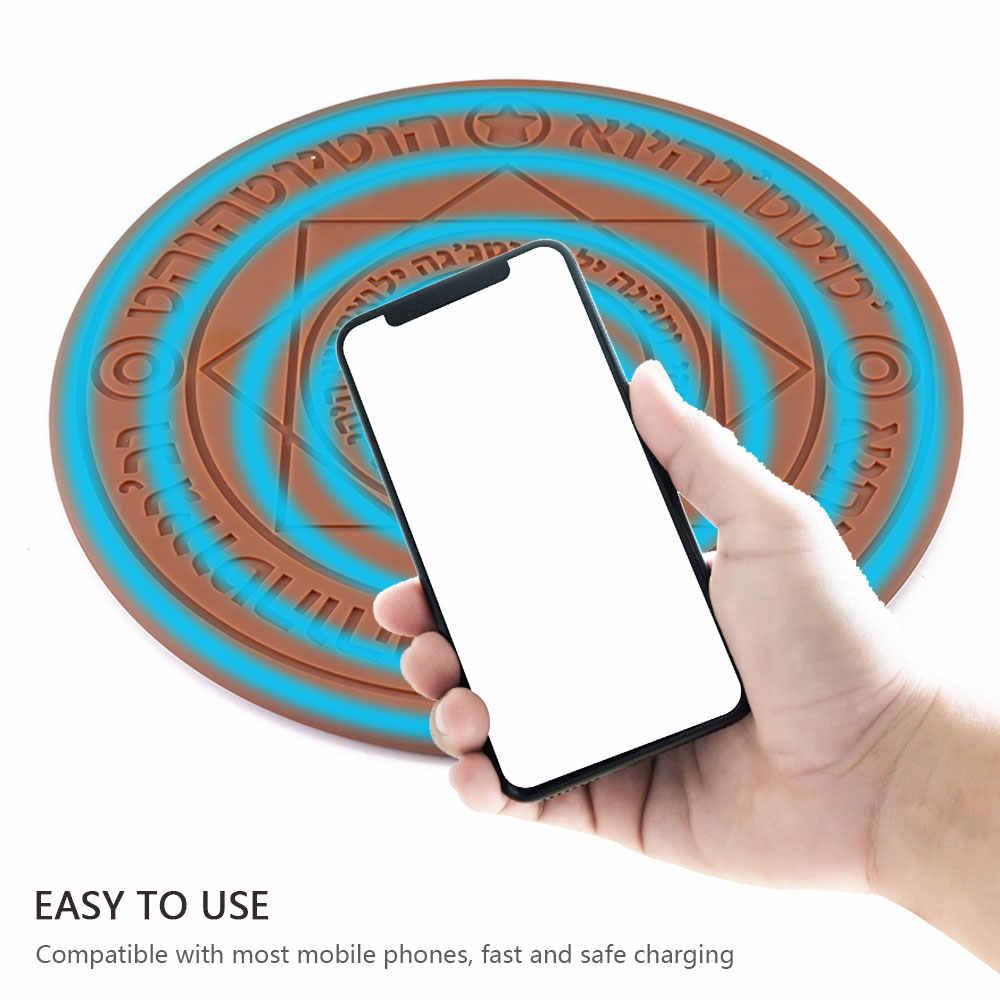 Glowing Magic Array Wireless Charger 5W 10W Universal Qi Wireless Fast  Charger Charging Pad for iPhone Samsung Xiaomi Huawei