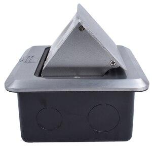 Image 3 - Coswall tout en aluminium argent panneau ue Standard Pop Up prise de sol prise électrique avec Port dordinateur Internet RJ45