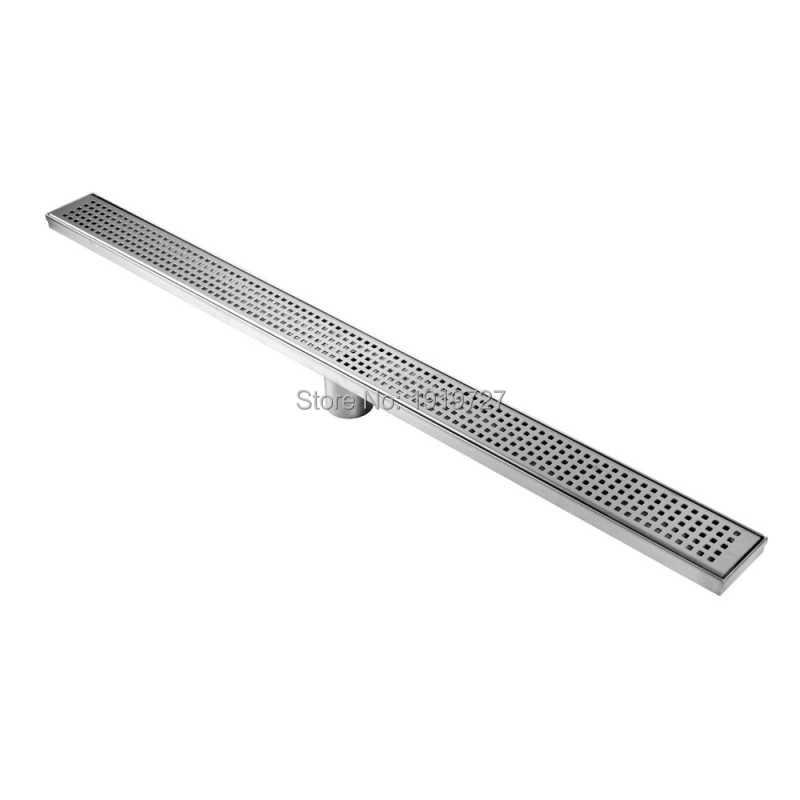 Bagnolux Novo 600/700/800/900/1000mm Quadrado de Alta Qualidade 304 Aço Inoxidável Longo Lineares Grelha Resíduos chão Ralo Do Chuveiro Do Banheiro