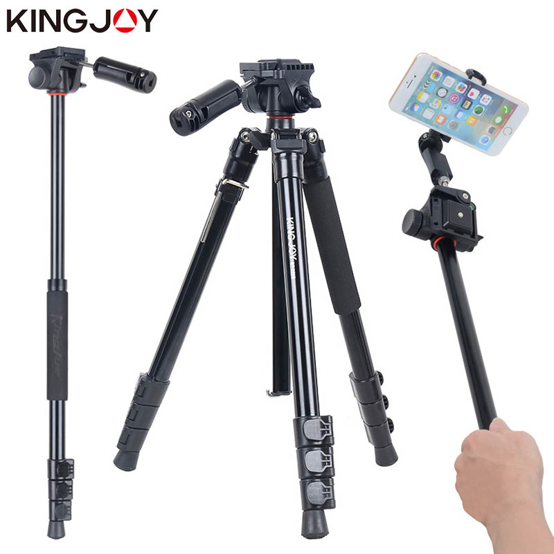 KINGJOY officiel BT-158 trépied léger pour appareil photo avec Selfie bâton support trépied pour téléphone Gorillapod Tripode pour Mobile