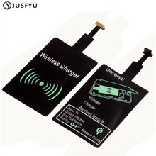 JUSFYU Universal Qi Wireless Charger Receiver for iPhone Adapter Receptor Coil Android Phone Micro USB Type C