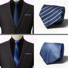 Mens Ties silk Tie  Business Wedding Necktie Blue Men Polka Dot for Gravata 8 cm men shirt Accessories
