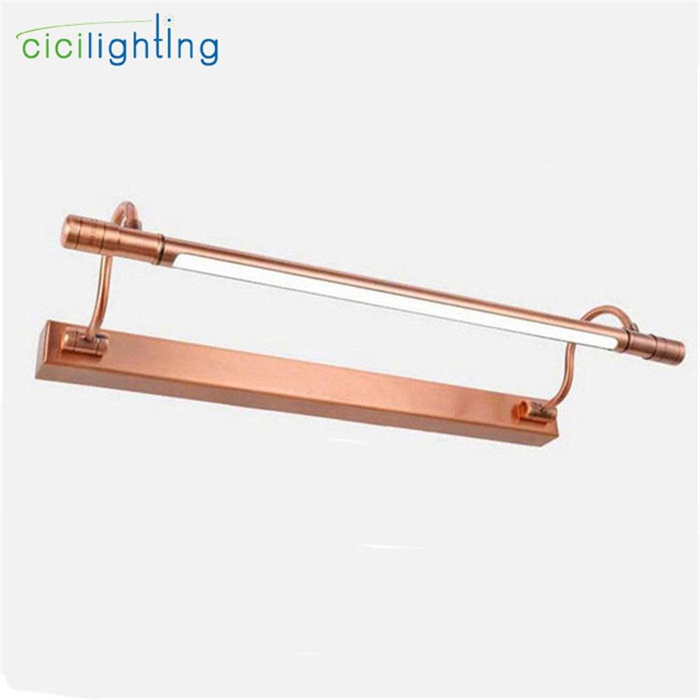 100V - 240V 10W 65cm Red Bronze LED European bathroom mirror light modern Vanity lights LED wall lamp Industrial Kitchen lights