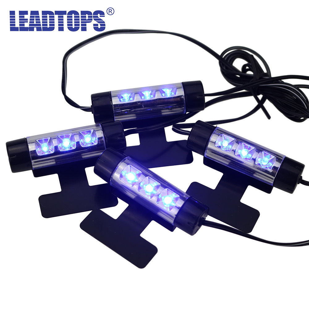 leadtops 4x 3led interior car decorative light atmosphere lights interior lights foot lamps 4in1. Black Bedroom Furniture Sets. Home Design Ideas
