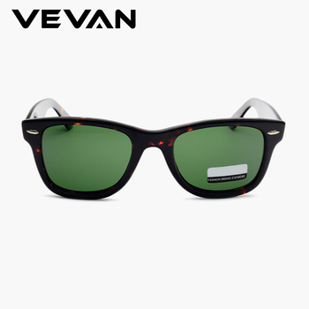 VEVAN Green Glass Lenses Luxury Sunglasses Women Brand designer Acetate Frame Sun glasses For women Multi Color Square Eyewear 6