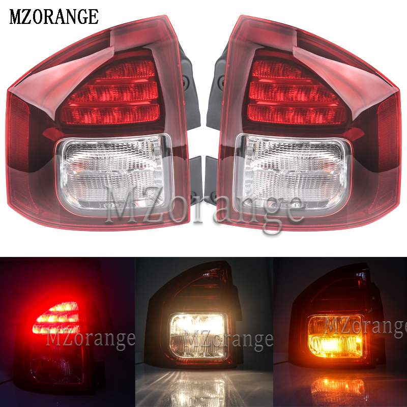 MZORANGE For Jeep Compass 2014 2015 2016 External Replacement Parts Rear Turn Signal Brake Lights Lamps
