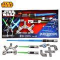 Cosplay de Star Wars Bladebuilders Jedi mestre sabre de luz pode voz luminosa arma de brinquedo montado espada de laser caçoa o presente de natal